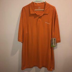 Columbia Sportswear Polo Shirt Orange XLT